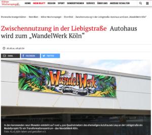 Presse: Kölner Wochenspiegel